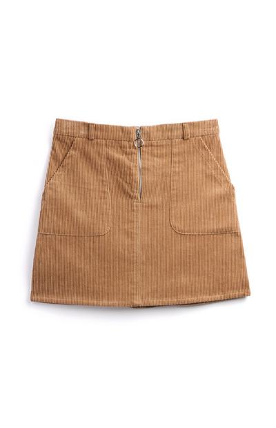 Falda de pana marrón niña mayor