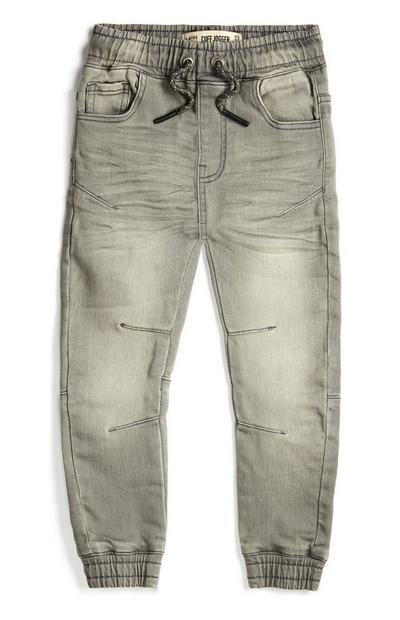 Younger Boy Grey Jersey Joggers