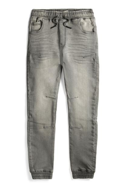 Older Boy Grey Jersey Joggers