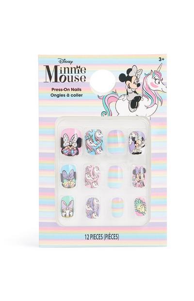 Uñas postizas de Minnie Mouse