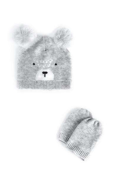 Baby Boy Koala Hat And Mittens