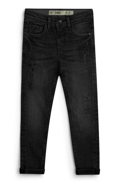 Jeans neri in twill da bambino