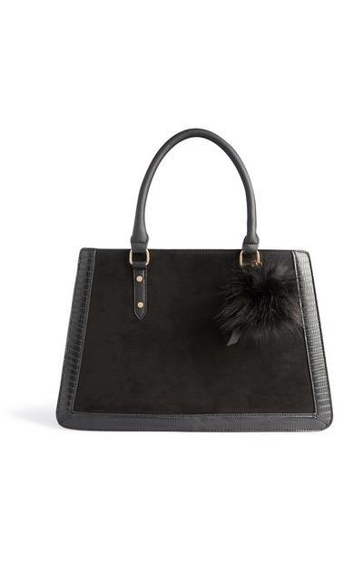 Črna strukturirana torba