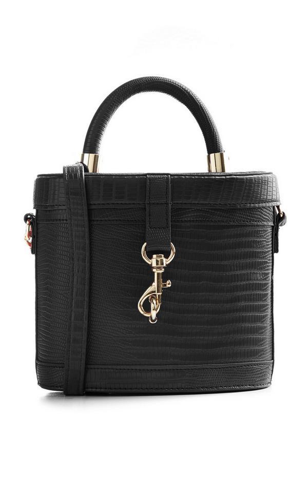 Black Vanity Case Boxy Bag