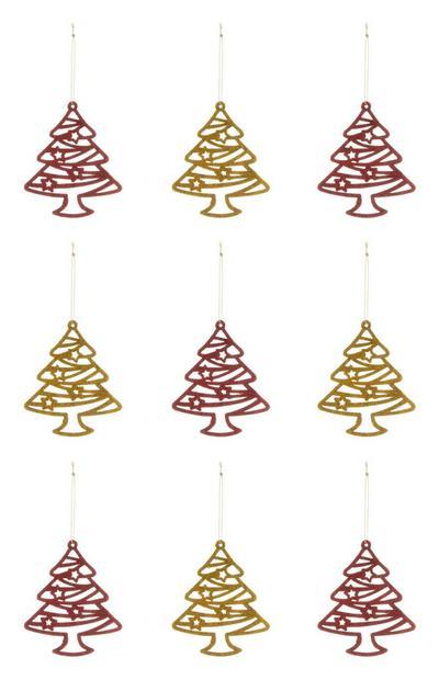 Pack 9 decorações árvores