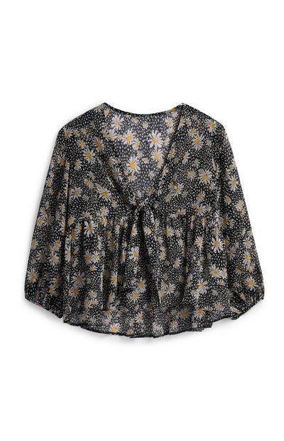 Gebloemde blouse