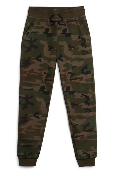 Kamuflažne športne hlače za starejše dečke
