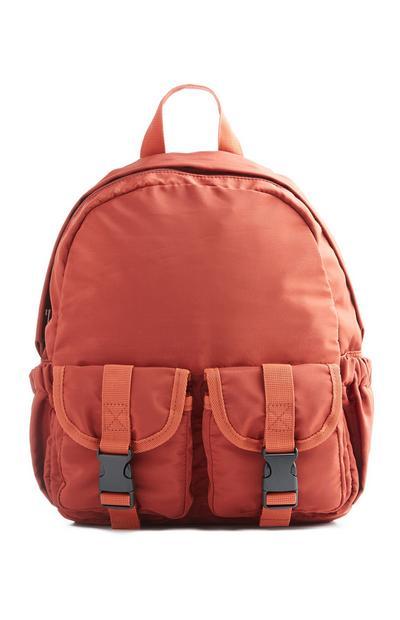 Orange Double Pocket Backpack