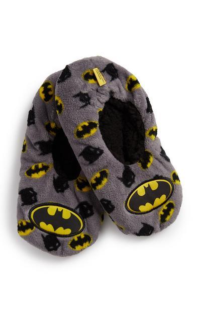 Grey Batman Slipper Socks
