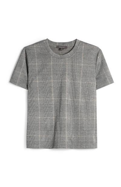 Camiseta gris marengo a cuadros