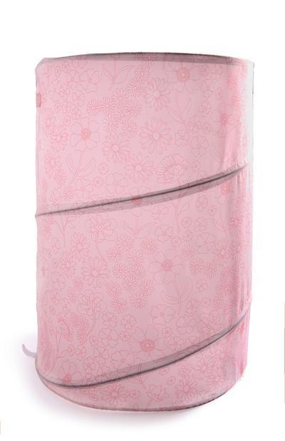 Cesta plegable de almacenaje en rosa