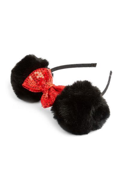 Minnie Mouse Pom Pom Headband