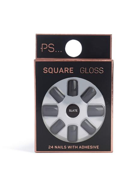 Square Gloss Faux Nails