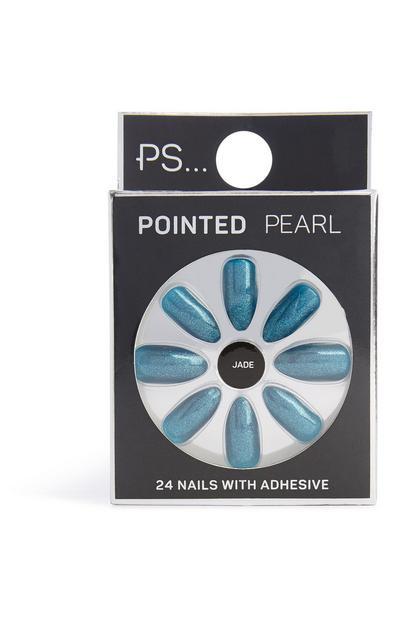 Unghie finte effetto perla