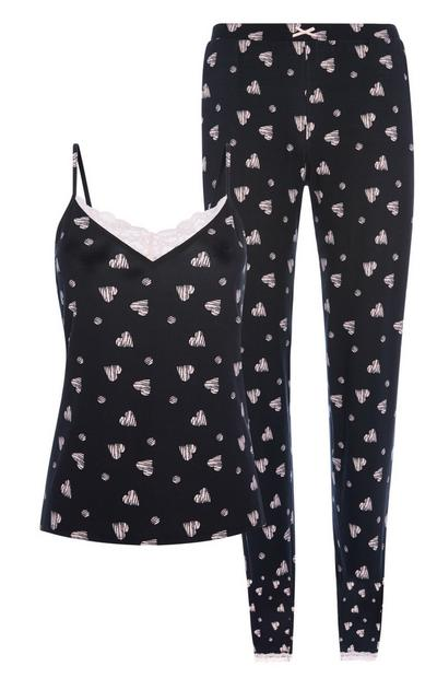Black Pyjamas 2Pc