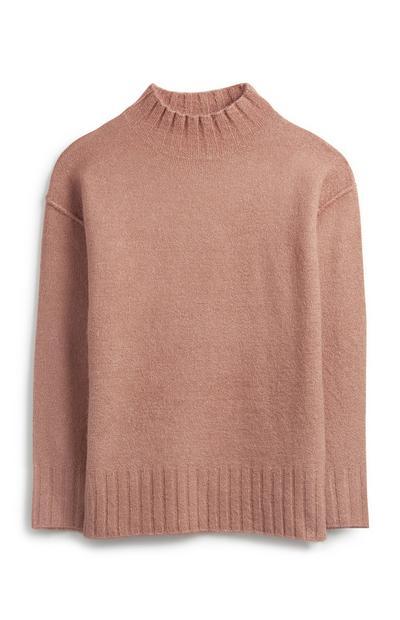 Blush Mock Neck Sweater