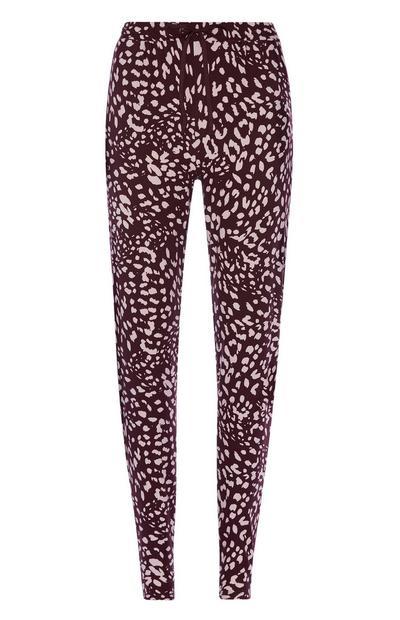 Pyjamabroek met luipaardprint