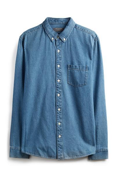 Blue Long Sleeve Denim Shirt