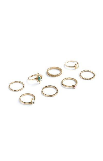 Pack de 8 anillos de moda