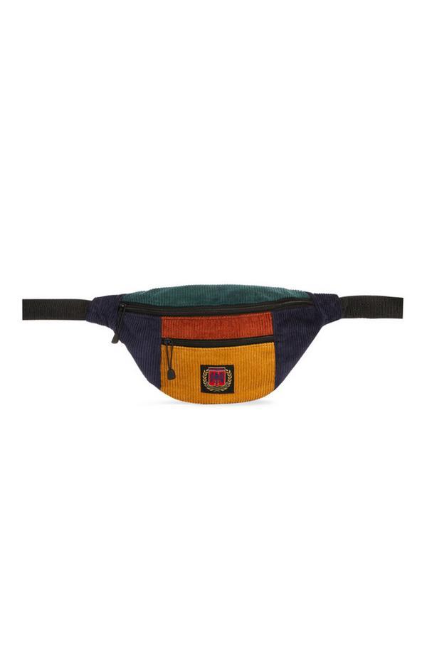 Multi-Coloured Courduroy Bum Bag