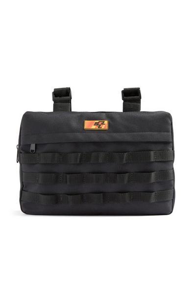 Črna torbica za okoli pasu
