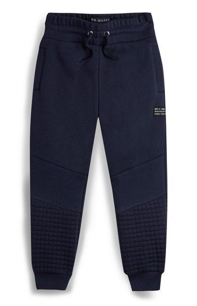 Joggers blu navy strutturati da bambino