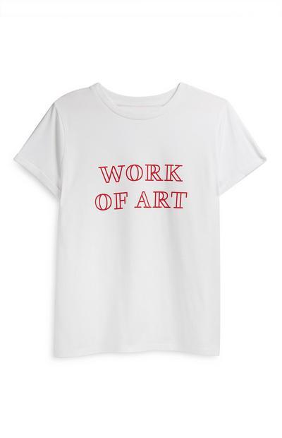 Camiseta blanca con mensaje