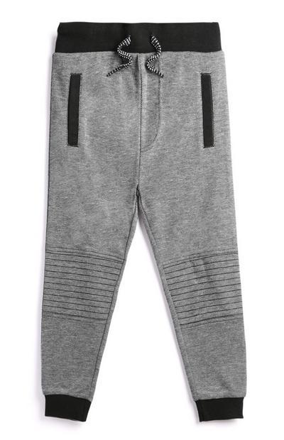 Pantalón de chándal gris para niño pequeño