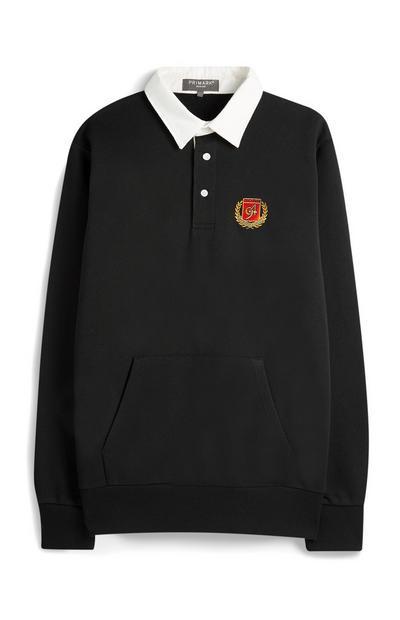 T-shirt met logo, zwart