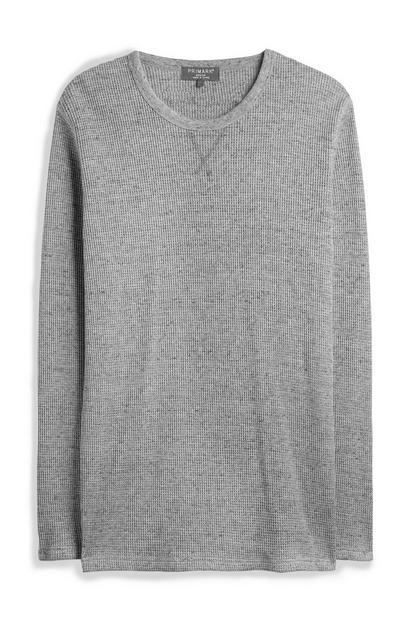 Gray Waffle Sweatshirt