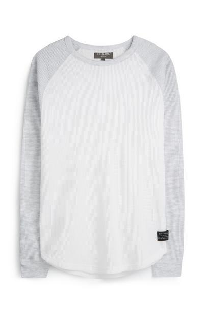 Grijs T-shirt met raglanmouwen