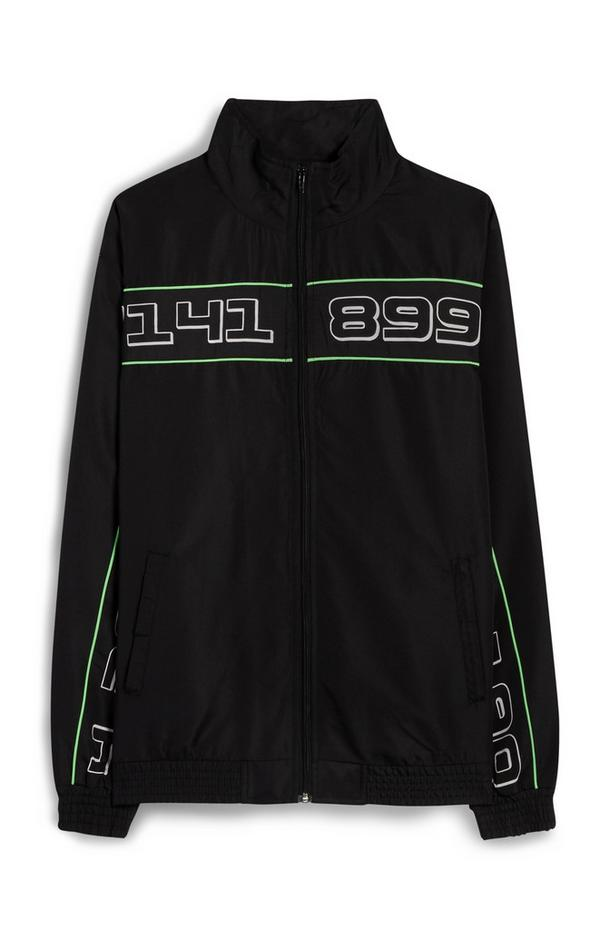 Black And Neon Tracksuit Zip Up Jacket