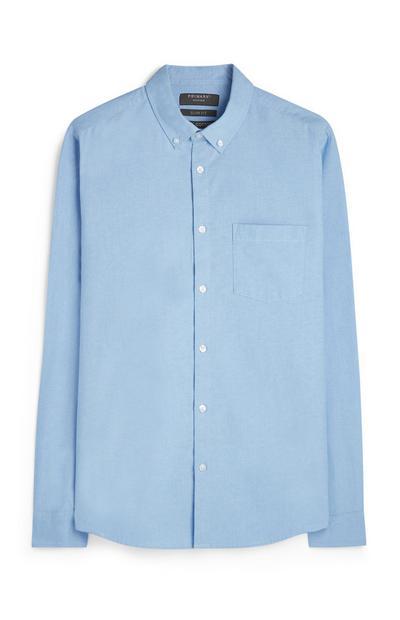 Klassiek blauw overhemd