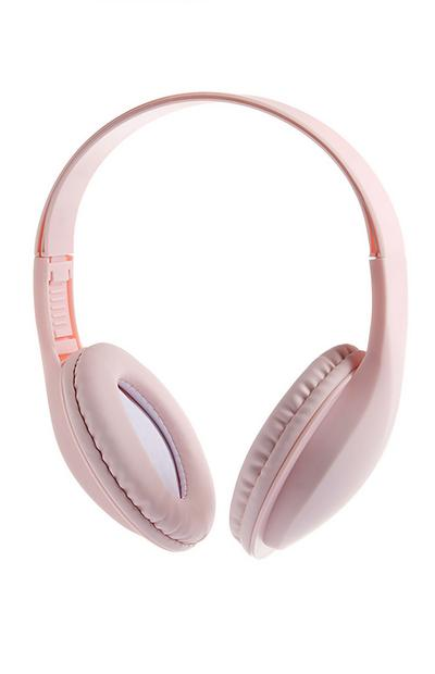 Casque audio rose sans fil