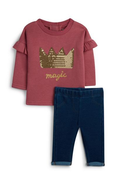 Shirt mit Jeggings für Babys (M)