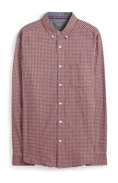 Hemd mit rotem Vichy-Muster