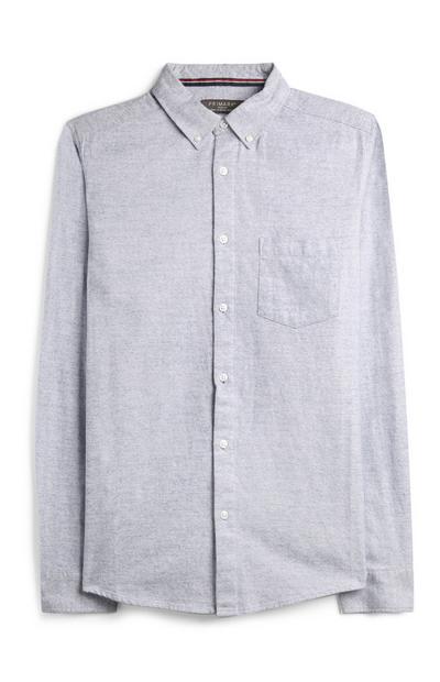 Camicia blu in flanella