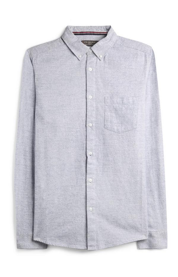 Blauw flanellen overhemd
