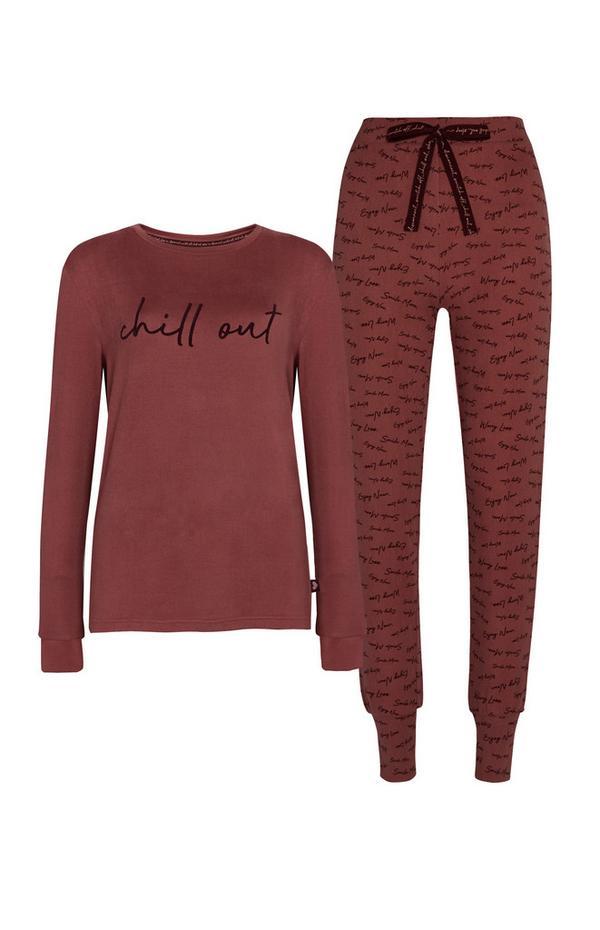 Burgundy Chill Out Pyjama Set