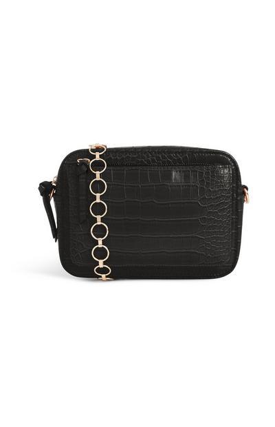 Croc Texture Crossbody Bag