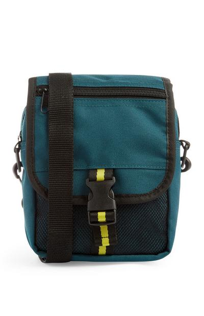 Teal Man Bag