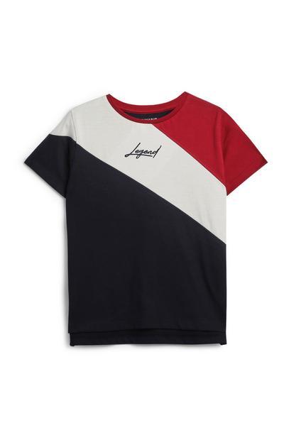 T-shirt met kleurvlakken, jongens