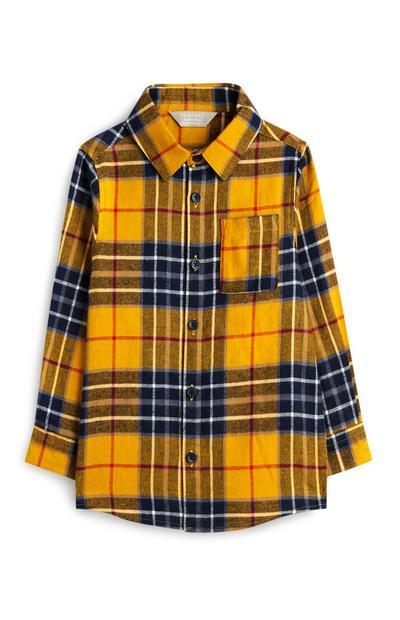 Chemise jaune à carreaux bébé garçon