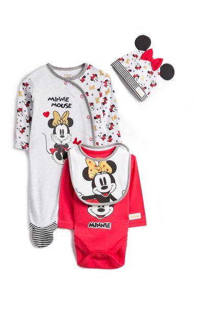 Conjunto base 3 peças Minnie Mouse menina bebé