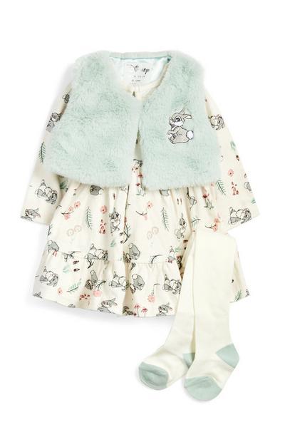 """Blaues """"Klopfer"""" Outfit für Babys (M), 2-teilig"""