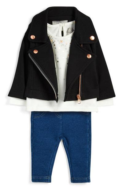 Baby-outfit voor meisjes, 3-delig
