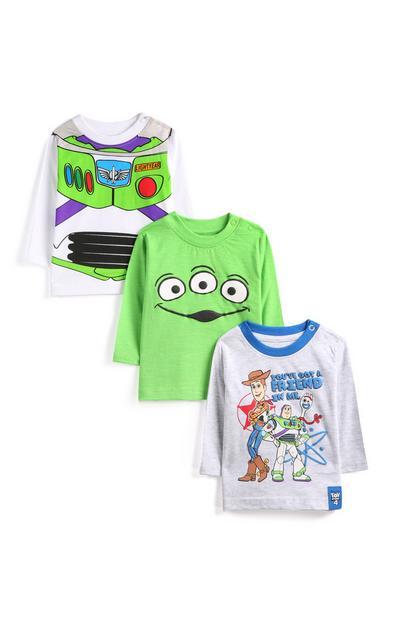 T-shirt Toy Story jongens, set van 3