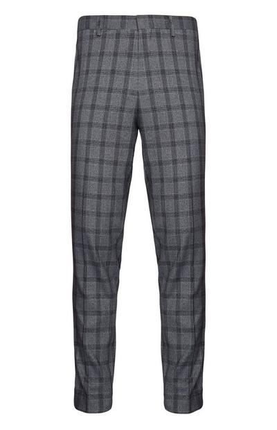 Charcoal Check Trousers