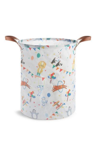 Wäschesack für Kinder mit Zirkusmotiven