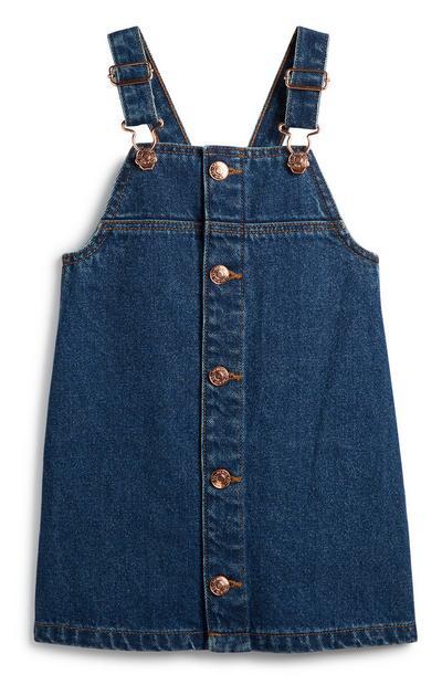 Younger Girl Denim Overall Dress